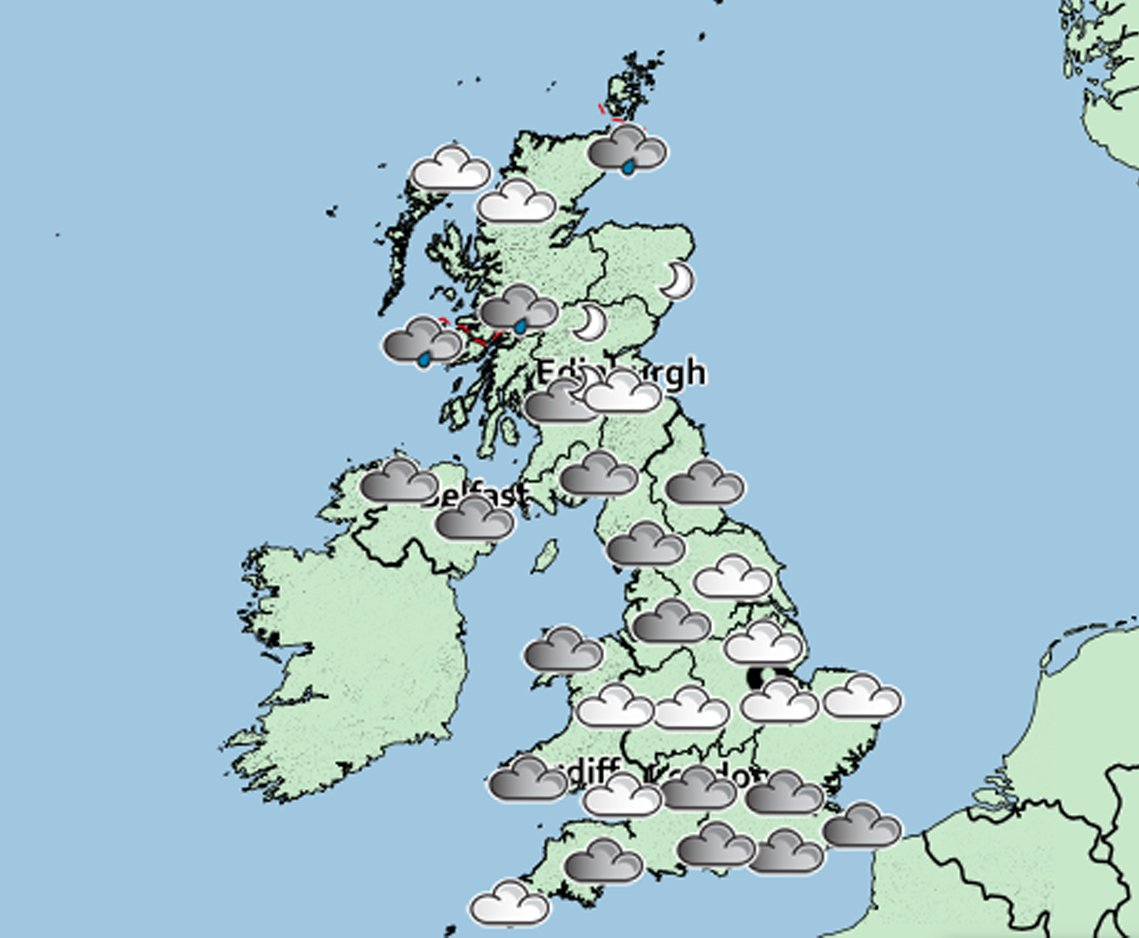 Weather over New Year. Will 2019 get off to a soggy start? METRO GRAB FROM https://www.metoffice.gov.uk/public/weather/forecast/map/gcrg49fhe#?map=SignificantWeather&zoom=5&lon=-4.00&lat=55.01&fcTime=1546257600 Credit: Met Office