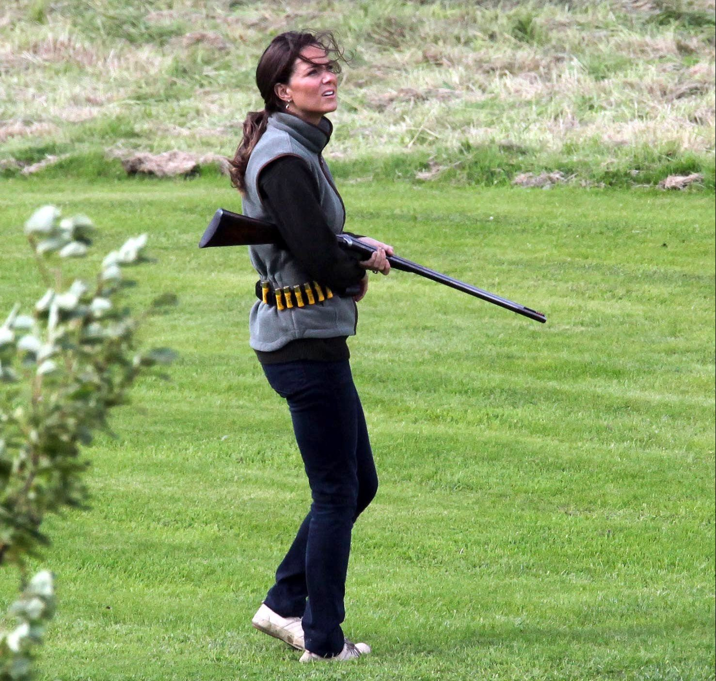 Mandatory Credit: Photo by Ikon Pictures/REX/Shutterstock (1004428m) Kate Middleton on a grouse shoot Prince William and Kate Middleton, Scotland, Britain - Aug 2009 Prince William and Kate Middleton on the weekend of the 12th anniversary of Princess Diana's death