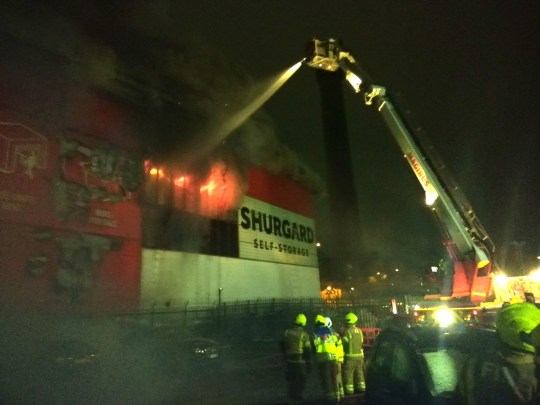Fire self-storage building in Purley Way, Croydon (Picture: London Fire Brigade)