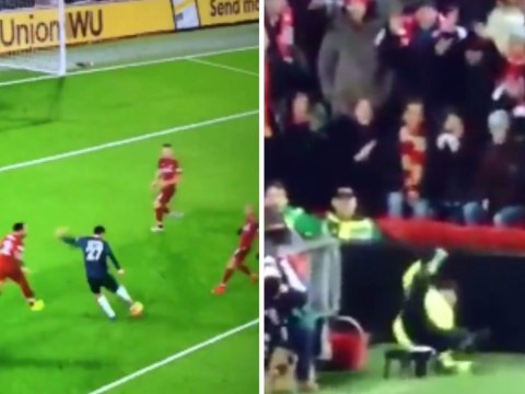 Marouane Fellaini knocks paramedic off his chair with abysmal shot against Liverpool