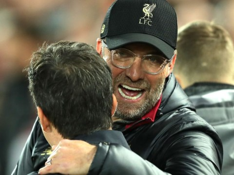 Jurgen Klopp apologises to Marco Silva after sprinting onto pitch in celebration during Liverpool win