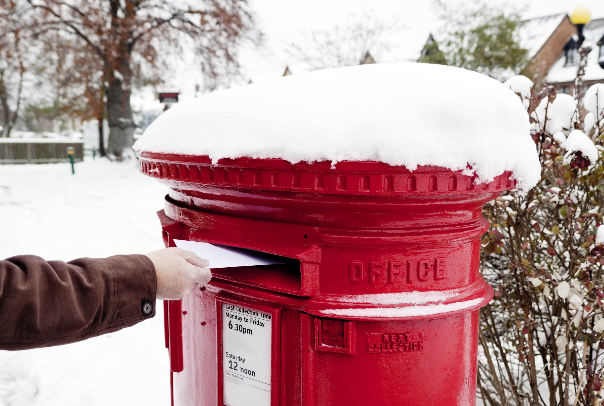 How you can still send your post before Christmas if you miss today's deadline