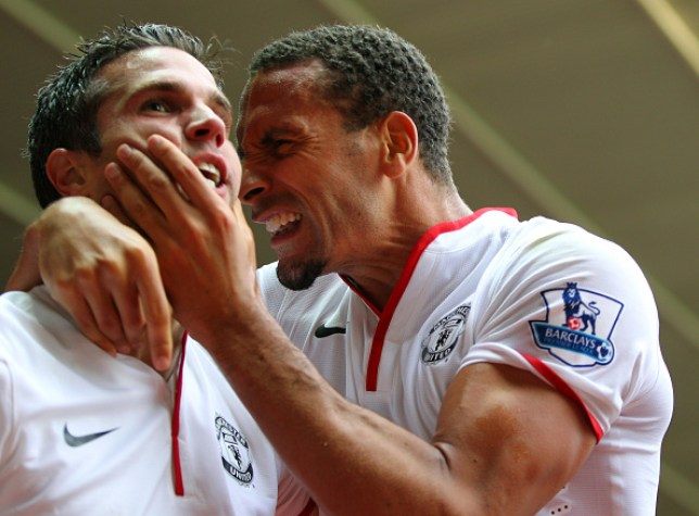 da4d2d17f78 Rio Ferdinand mocks Arsenal with Robin van Persie picture ahead of Manchester  United clash