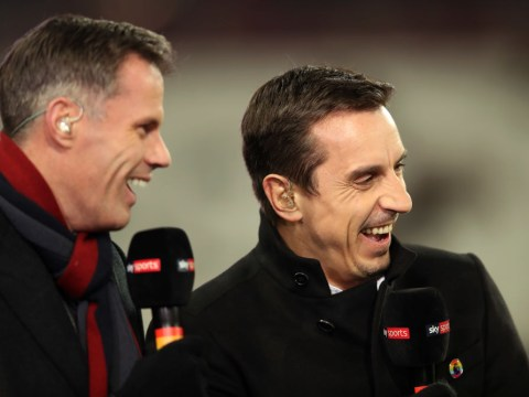 Jamie Carragher mocks Gary Neville over his combined Liverpool-Manchester United XI