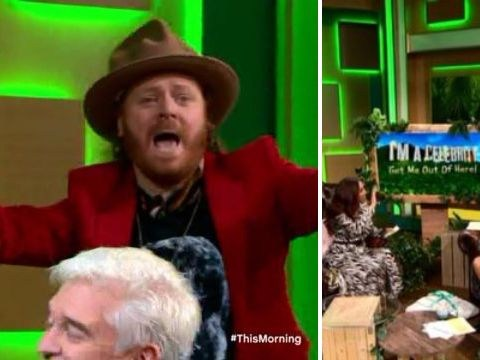Paddy McGuinness and Keith Lemon gatecrash This Morning studio – give shout-out to I'm A Celebrity's Emily Atack