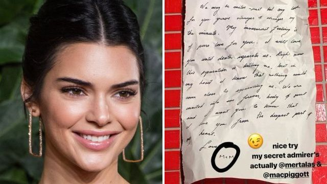 Kendall Jenner reveals identity of 'secret admirer' – and sorry, it's not Harry Styles