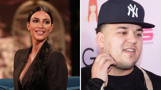 Kim Kardashian thinks brother Rob might still have imaginary friends