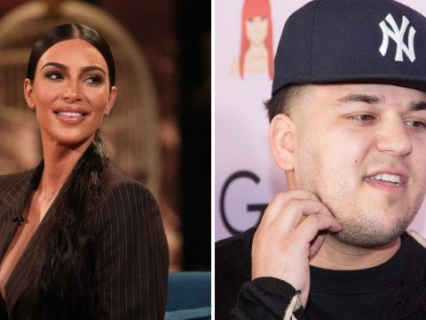 Kim Kardashian thinks brother Rob might still have imaginary friends