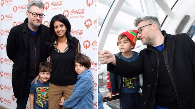 Black Mirror's Charlie Brooker and wife Konnie Huq make rare outing with their children