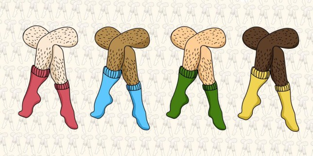 A drawing of legs with hair on them from the Januhairy campaign.