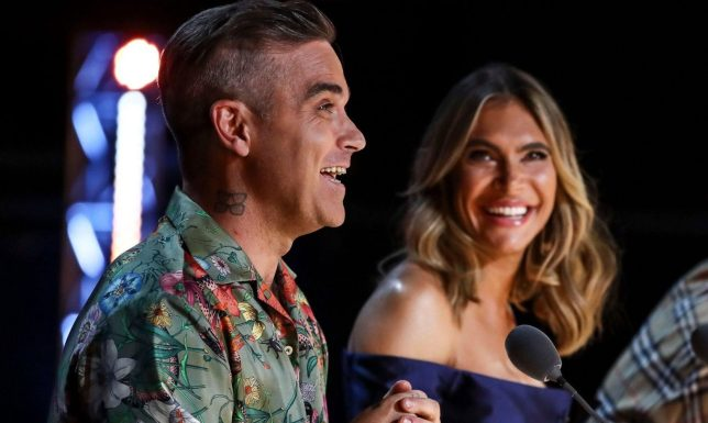 Robbie Williams and wife Ayda Field are 'happier' as they work together on X Factor