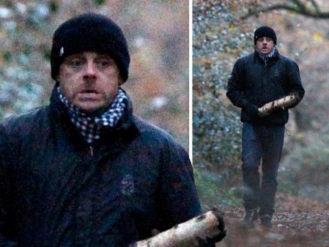Ant McPartlin wraps up warm for winter walk with pet pooch Hurley