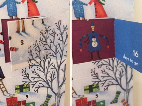 Second window on advent calendar mistakenly says there's 16 days until Christmas