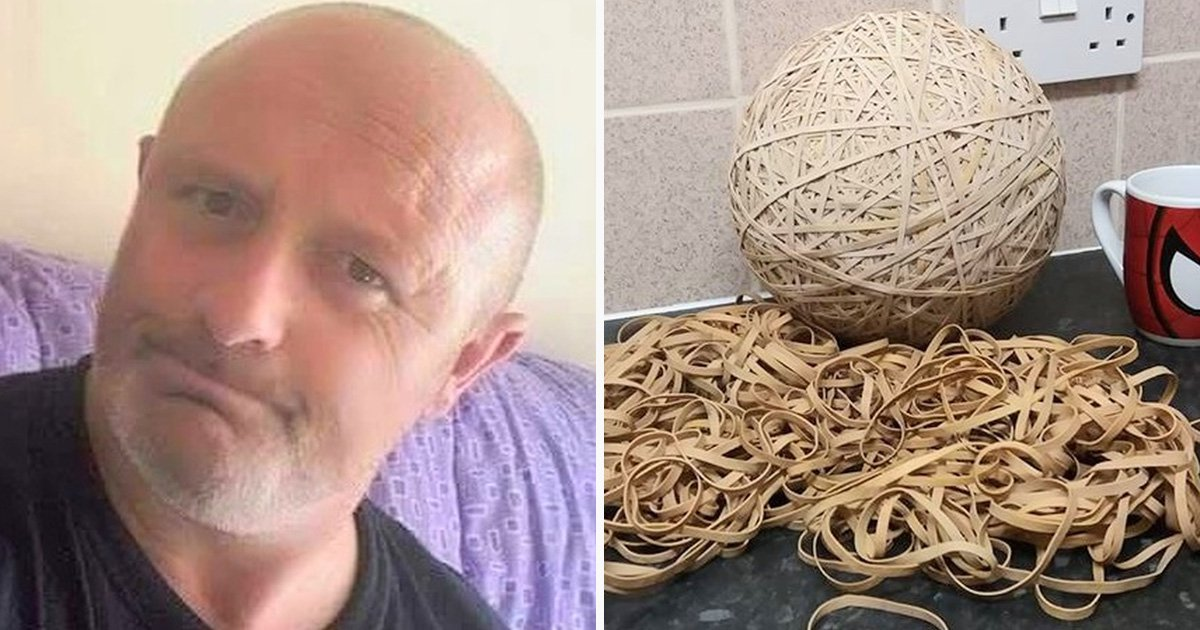 Eco warrior turns elastic bands 'dropped in his street by Royal Mail staff' into a massive ball