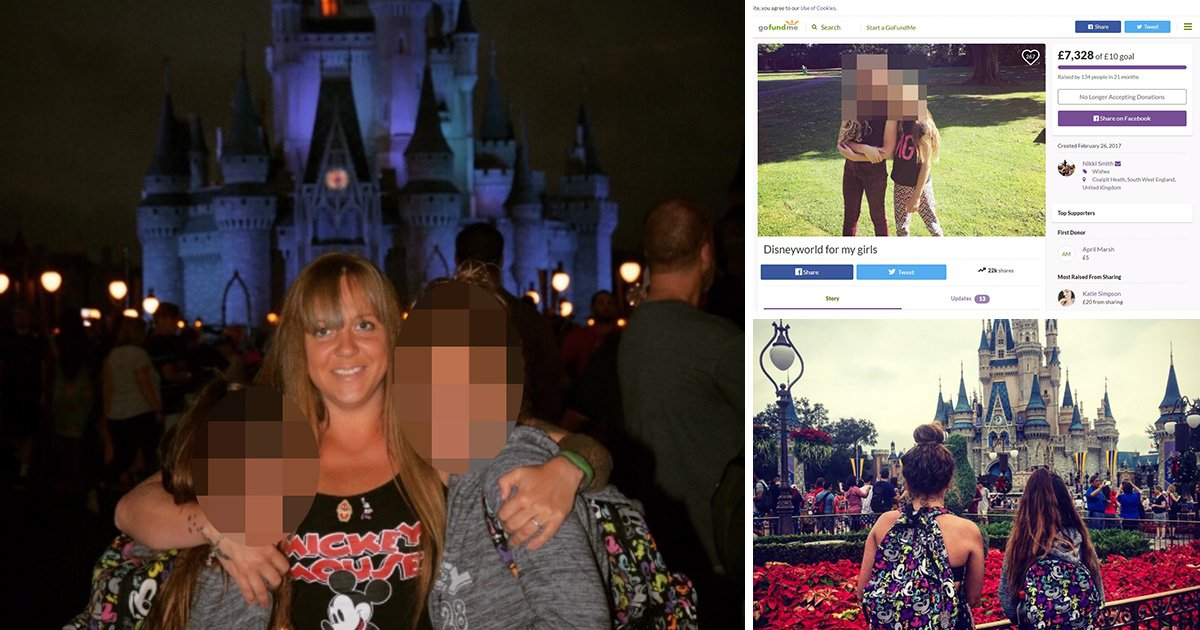 Mum boasts about dream Disney holiday paid for by strangers