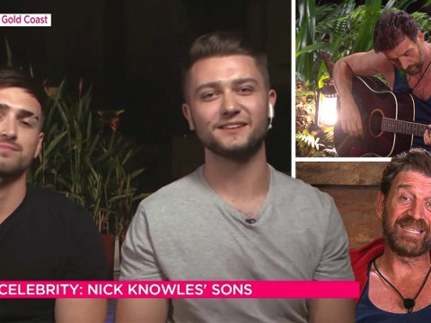 Nick Knowles' sons defend his singing after I'm A Celebrity fans demand he quits music for good
