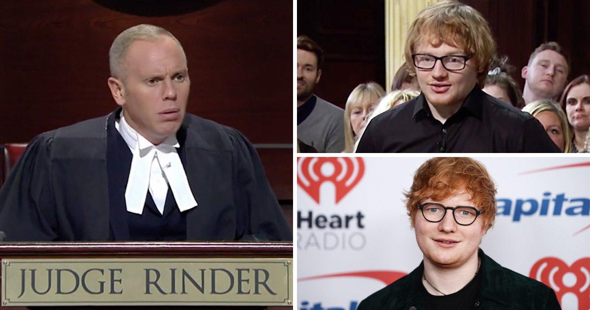 Ed Sheeran lookalike delights Judge Rinder viewers as he sues for £720 debt