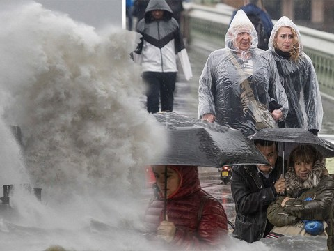 High speed winds of up to 80mph to batter the UK