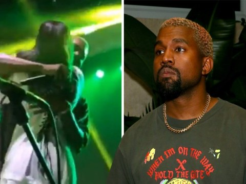 Kanye West hugs XXXTentacion's mum on stage during late rapper's album release party