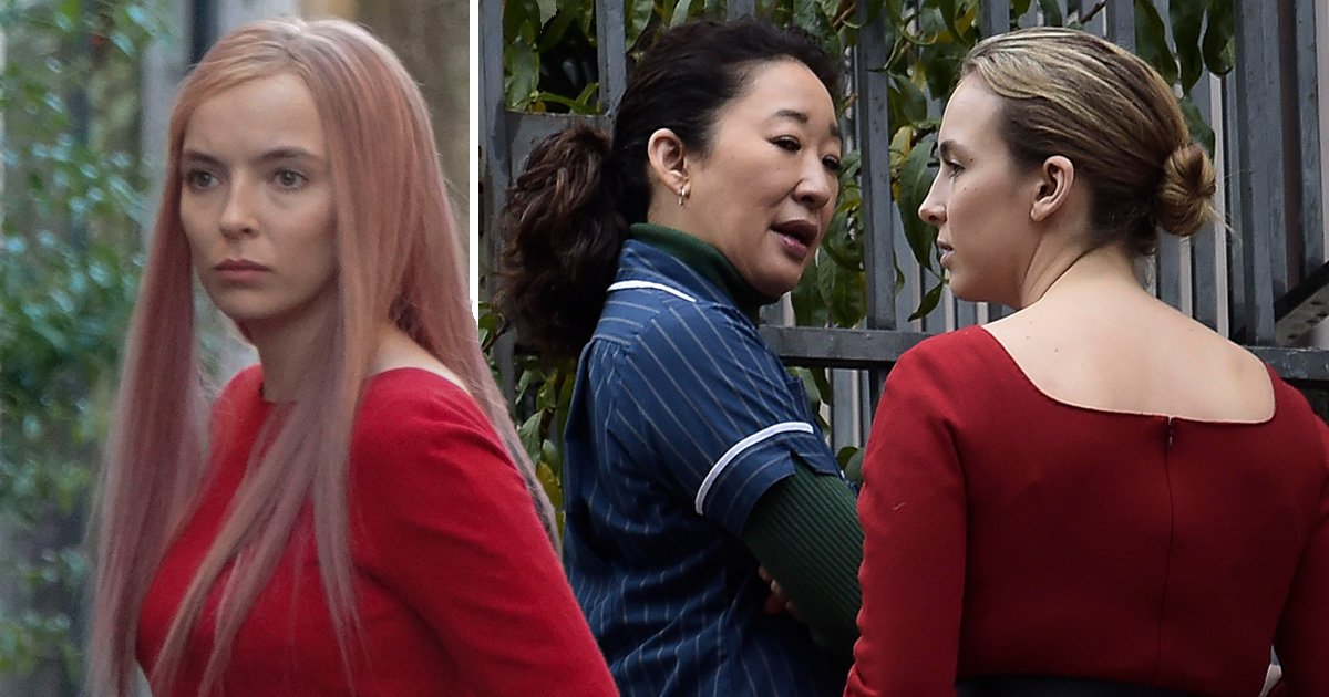 Killing Eve's Jodie Comer shows off striking Villanelle outfit as series 2 filming hits Rome