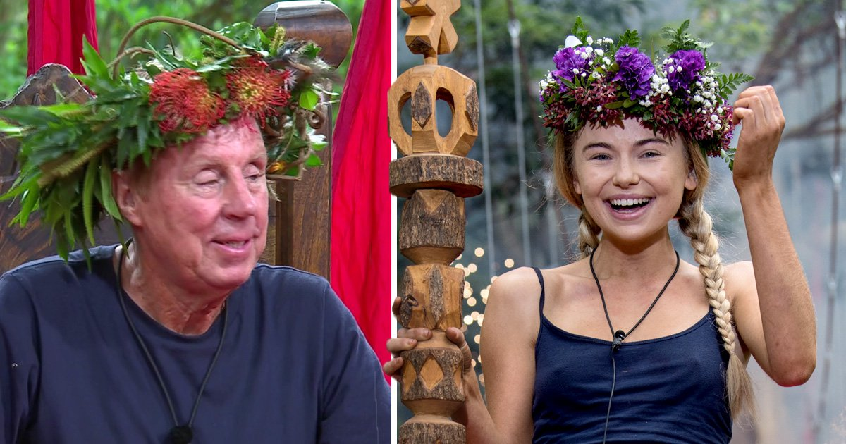 Why did Georgia Toffolo not present the I'm A Celeb crown to Harry Redknapp?