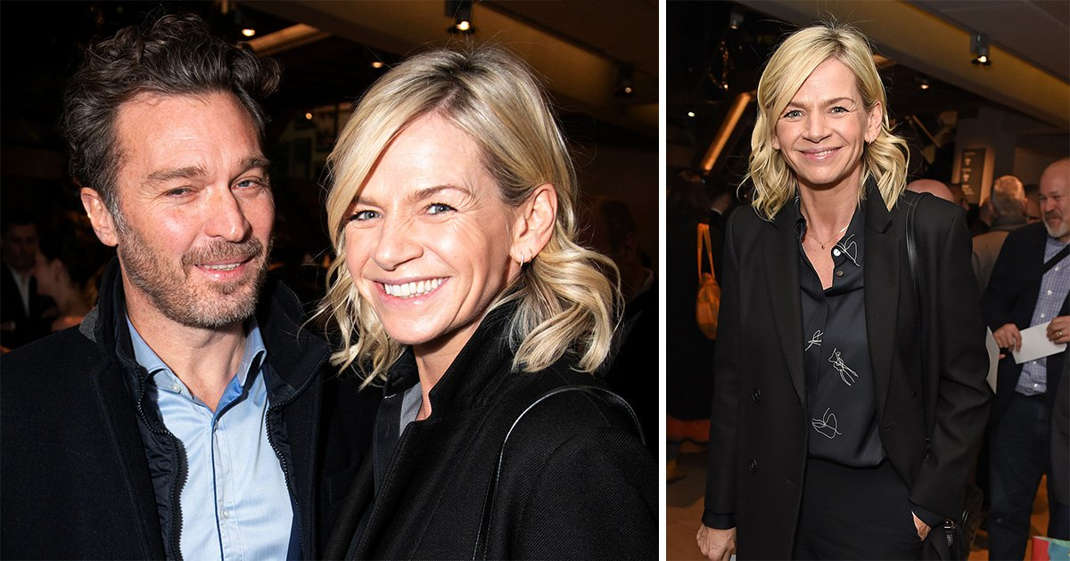 Zoe Ball can't hide her smile as she makes first public appearance with boyfriend Michael Reed