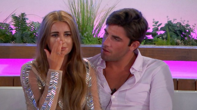 Editorial use only Mandatory Credit: Photo by ITV/REX/Shutterstock (9724717ah) Dani Dyer and Jack Fincham 'Love Island' TV Show, Series 4, Episode 19, Majorca, Spain - 22 Jun 2018 The Islanders' worst fears are confirmed when a surprise text reveals a looming recoupling: Islanders, tonight there will be a recoupling. The boys will choose which girls they want to couple up with and the girl not picked will be dumped from the island. With both Samira and Rosie in a compromising position, having failed to find love, it soon becomes clear that a big decision will lie with new boy Sam.