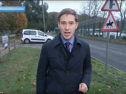 Russian journalist found 'acting suspiciously' outside British military base