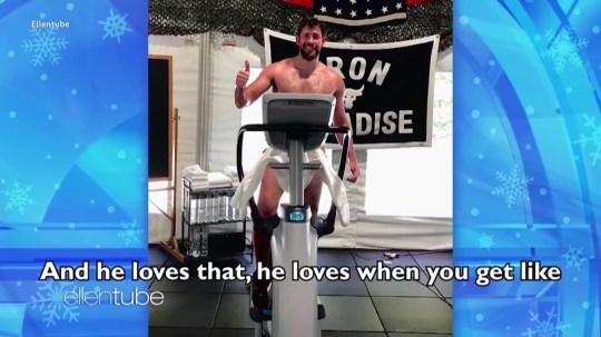 Dwayne Johnson responds to John Krasinski gym nudes picture: ellentube METROGRAB