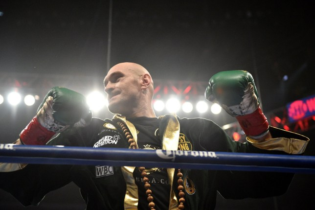 Tyson Fury during the WBC Heavyweight Championship bout at the Staples Center in Los Angeles. PRESS ASSOCIATION Photo. Picture date: Saturday December 1, 2018. See PA story BOXING Los Angeles. Photo credit should read: Lionel Hahn/PA Wire
