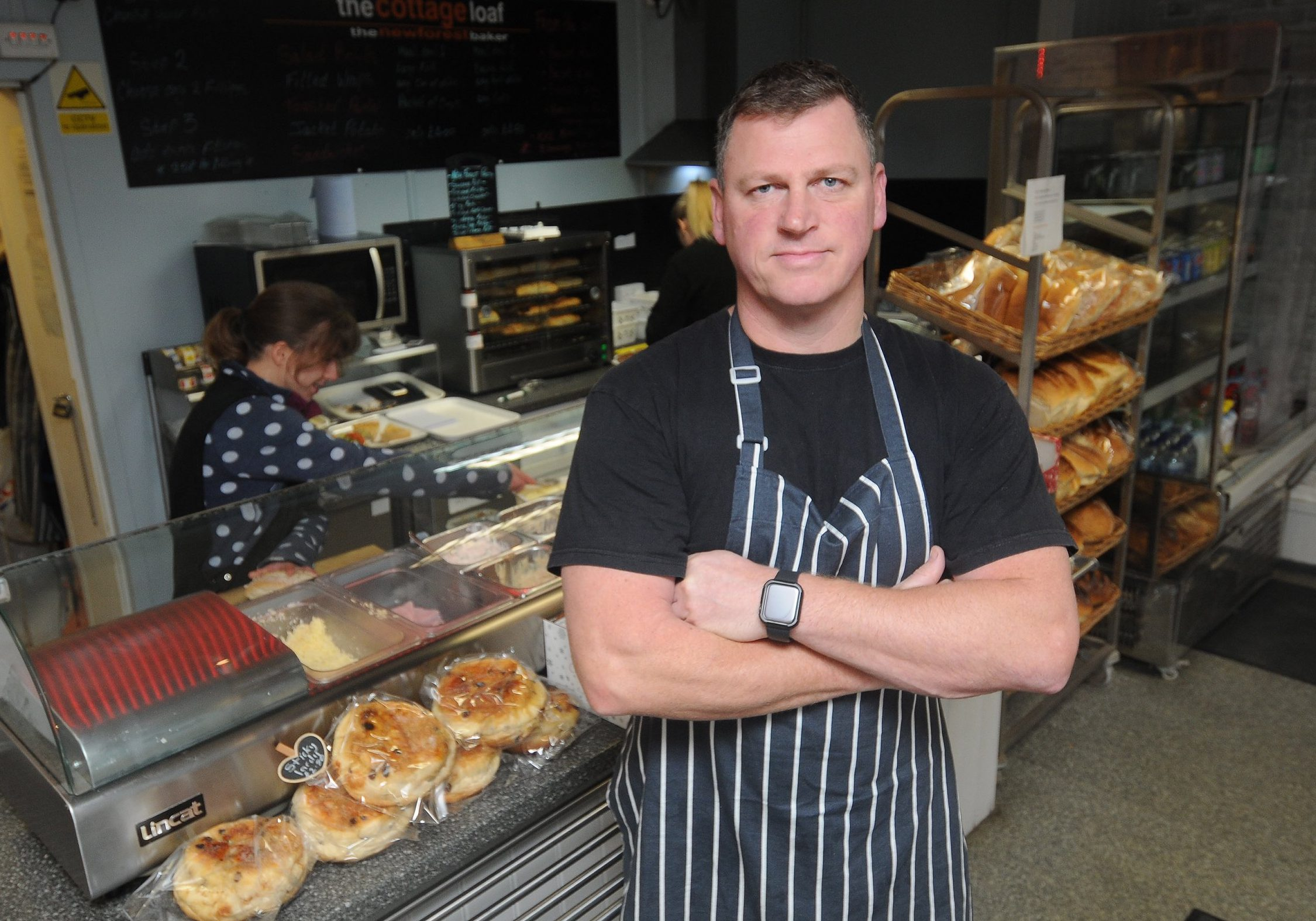 Pictured: Mike Penton in his Bakery A baker whose business was 'ransacked' by burglars reported it to police and was stunned to be told he probably wouldn't see an officer - but he could investigate the break-in himself if he wanted. Shocked Mike Penton called police after he arrived at his bakery to find it had been broken into, with two safes stolen and his till 'smashed to pieces'. He called the non-emergency 101 number after discovering a 'substantial amount' of money had been stolen and a forensic officer was then sent to The Cottage Loaf bakery in Fordingbridge, Hants, a day later. But when he had not heard from an actual police officer after five days, he called 101 again only to be told it would be unlikely because commercial break-ins were 'treated differently'. SEE OUR COPY FOR MORE DETAILS. ? Salisbury Journal/Solent News & Photo Agency UK +44 (0) 2380 458800
