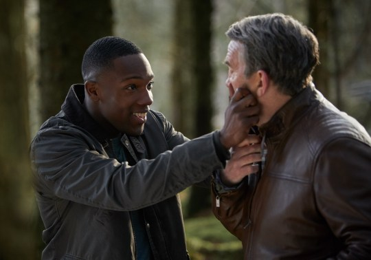 Doctor Who stars Bradley Walsh and Tosin Cole