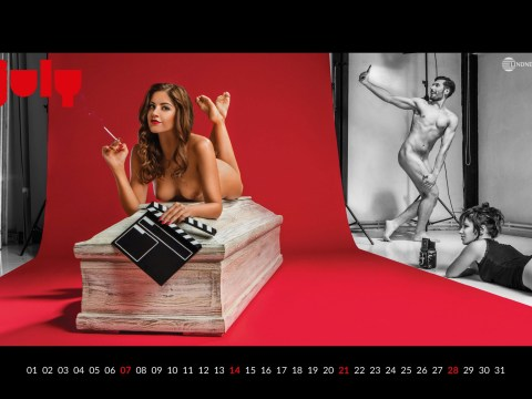 The sexy women in coffins calendar returns and now there's naked men in it also