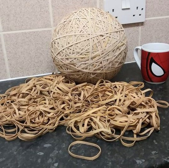Eco warrior turns rubber bands 'dropped by Royal Mail staff