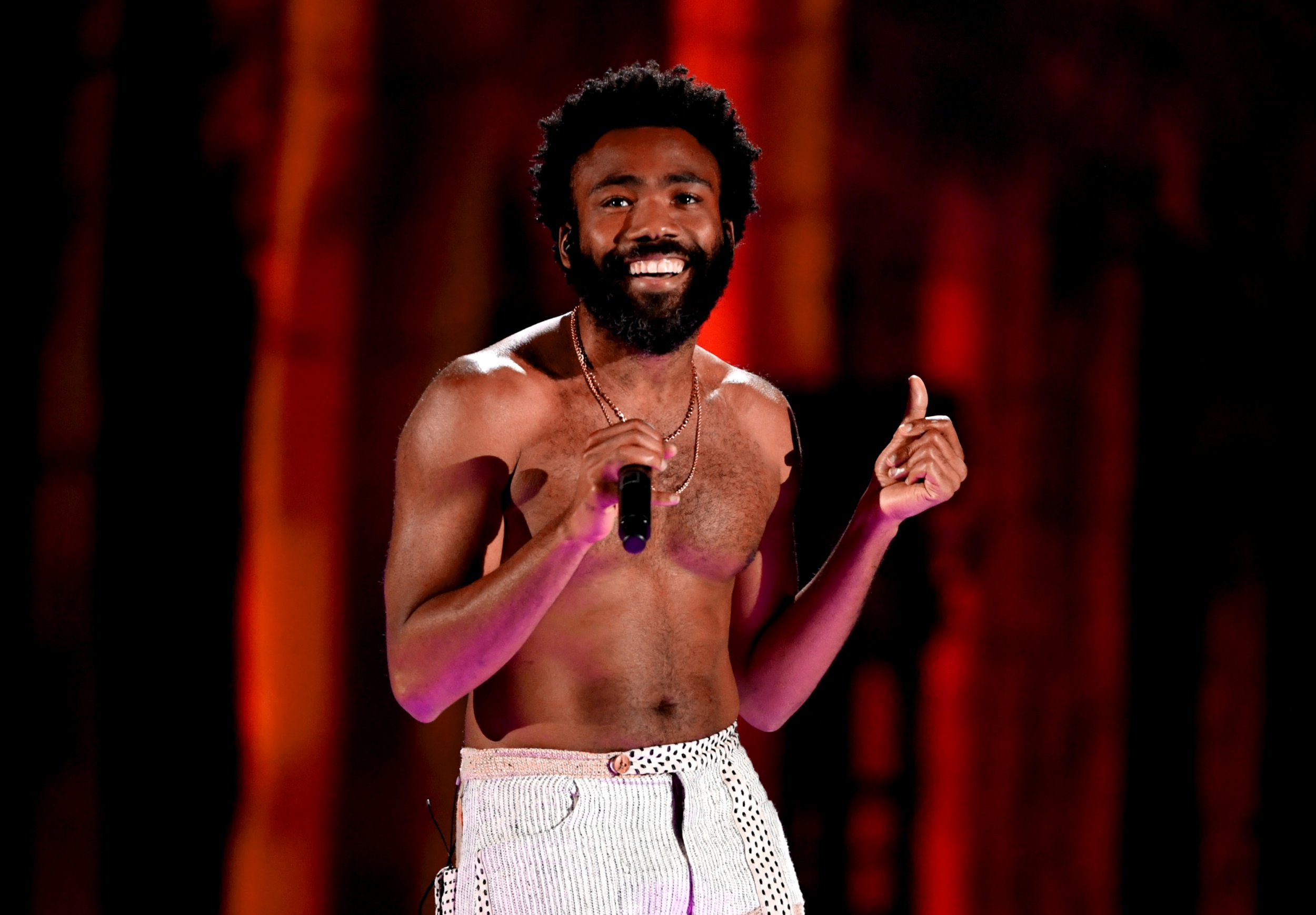 LAS VEGAS, NV - SEPTEMBER 21: (EDITORIAL USE ONLY; NO COMMERCIAL USE) Childish Gambino performs onstage during the 2018 iHeartRadio Music Festival at T-Mobile Arena on September 21, 2018 in Las Vegas, Nevada. (Photo by Kevin Winter/Getty Images for iHeartMedia)