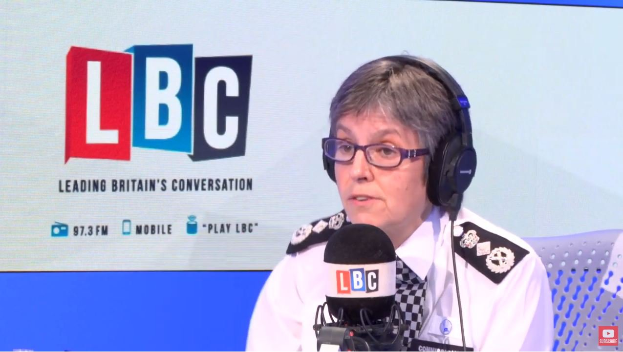 """Britain's most senior police officer has said she wants the public to get involved if they see an officer """"getting a kicking"""" and feel able to help. Metropolitan Police Commissioner Cressida Dick told LBC that people filming attacks on police and mockingly posting the footage online was """"absolutely awful""""."""
