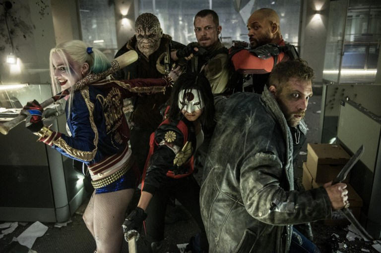 Editorial use only. No book cover usage. Mandatory Credit: Photo by Moviestore/REX/Shutterstock (5584829b) Margot Robbie, Adewale Akinnuoye-Agbaje, Joel Kinnaman, Will Smith, Karen Fukuhara, Jai Courtney Suicide Squad - 2016