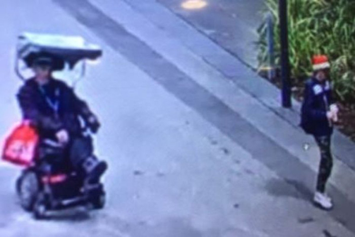 Disabled man left stuck in toilet after man in Santa hat drove off on his wheelchair down Batman Avenue CREDIT: Victoria Police