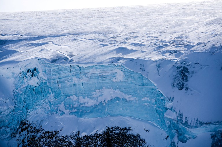 """***EMBARGOED UNTIL 18.00 GMT, WED DEC 5TH (13.00 ET)*** Exposed cliff of an ice cap in west Greenland. See National story NNmelt; Greenland's ice sheet is melting at a scale """"off the charts"""" compared with the previous four centuries, warns a new study. Researchers say that if the Greenland ice sheet melting continues at """"unprecedented rates"""" - which they attribute to warmer summers - it could accelerate the already fast pace of sea level rise. Surface melting across Greenland's mile-thick ice sheet began increasing in the mid-19th Century and then ramped up dramatically during the 20th and early 21st Centuries - and shows no signs of abating, according to the study. Scientists say their findings, published in the journal Nature, provide new evidence of the impacts of climate change on Arctic melting and global sea level rise. Study lead author Dr Luke Trusel, a glaciologist at Rowan University in the United States, said: """"Melting of the Greenland Ice Sheet has gone into overdrive. """"As a result, Greenland melt is adding to sea level more than any time during the last three-and-a-half centuries, if not thousands of years. """"And increasing melt began around the same time as we started altering the atmosphere in the mid-1800s."""""""