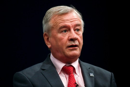 Terry Morgan, chairman of Crossrail Ltd., speaks at the Conservative Party's annual conference in Manchester, U.K. on Monday, Oct. 5, 2015. U.K. Chancellor of the Exchequer George Osborne will urge the 89 local-council pension funds in England and Wales to consolidate in an effort to improve their investment strategies and reduce costs. Photographer: Simon Dawson/Bloomberg via Getty Images