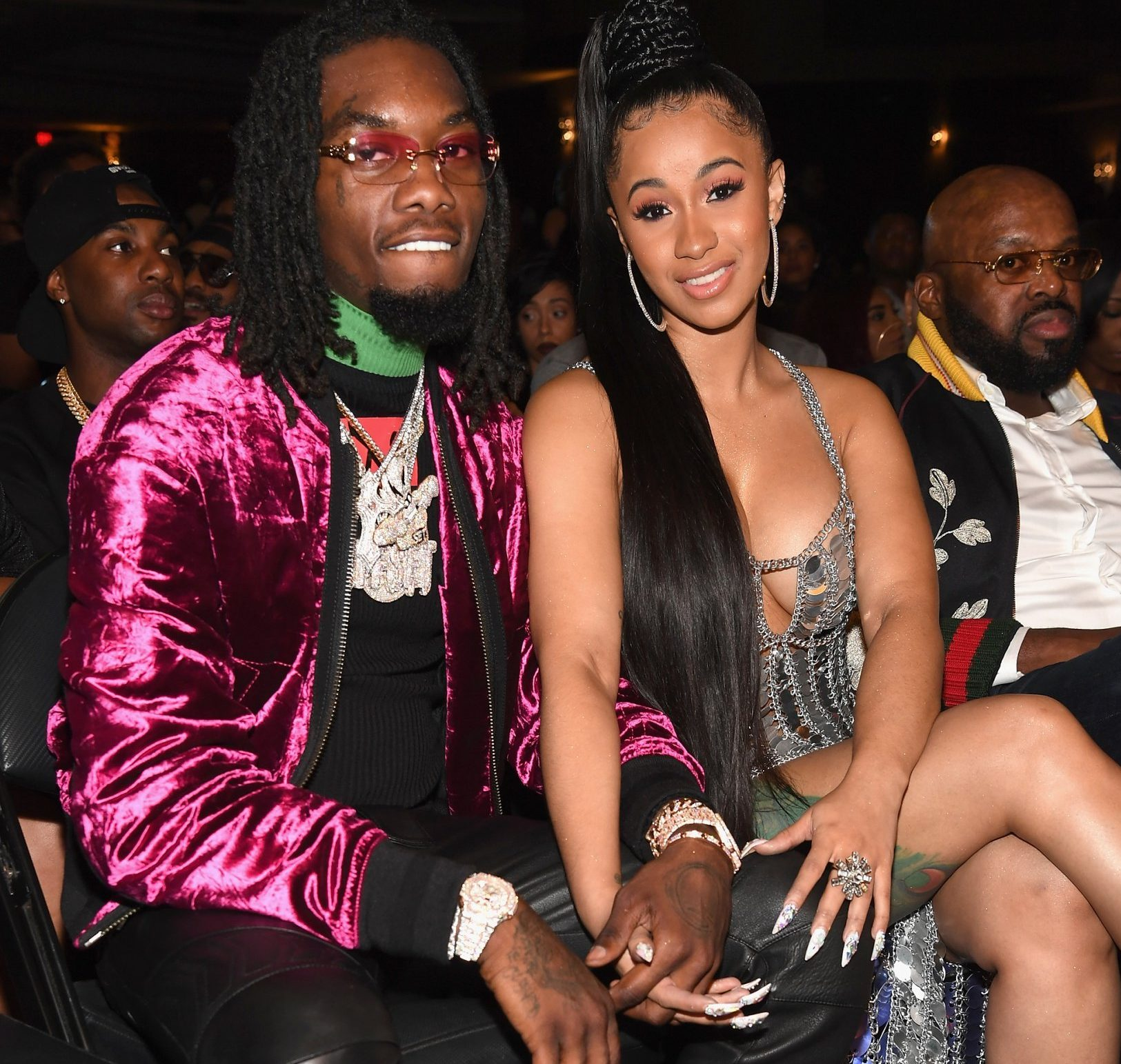 MIAMI BEACH, FL - OCTOBER 06: Rappers Offset of Migos and Cardi B attend the BET Hip Hop Awards 2017 at The Fillmore Miami Beach at the Jackie Gleason Theater on October 6, 2017 in Miami Beach, Florida. (Photo by Paras Griffin/Getty Images for BET)