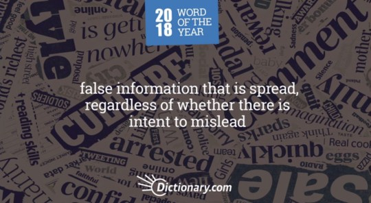 Picture: Dictionary.com Misinformation named word of the year because of fake news
