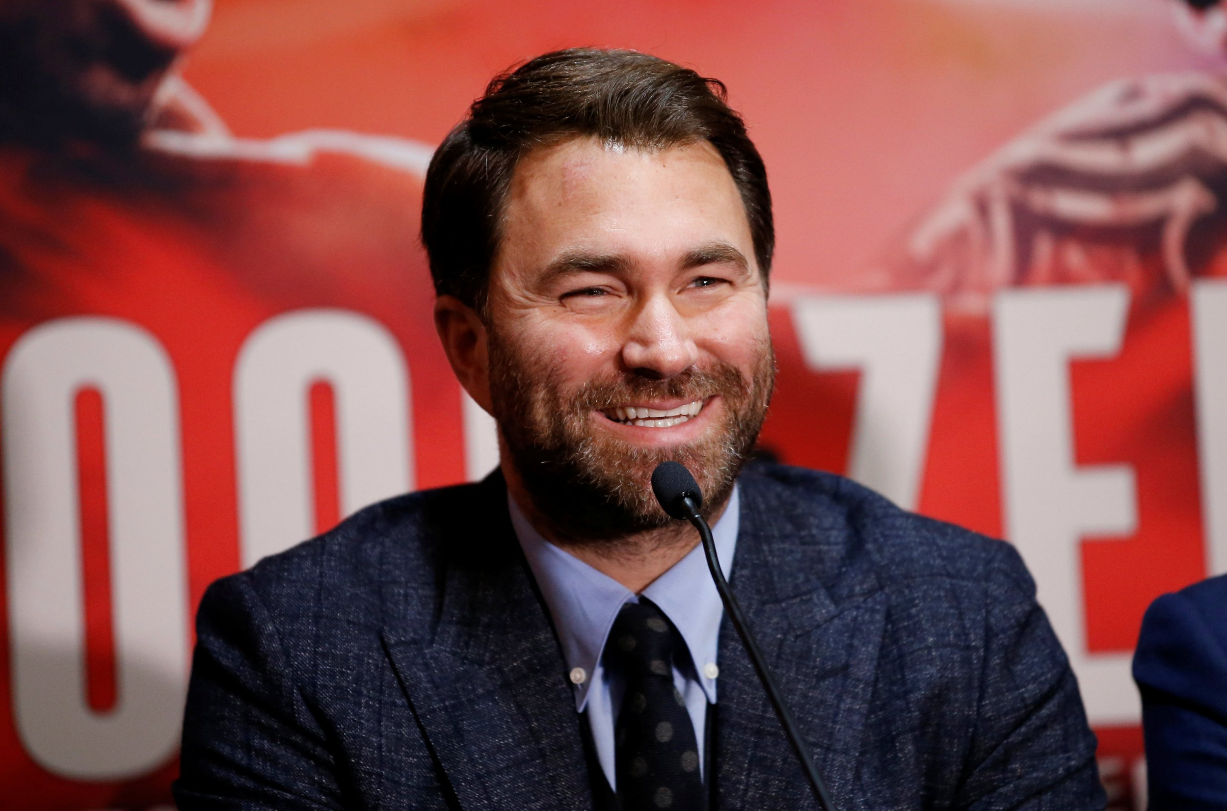 Boxing - Kell Brook & Michael Zerafa Press Conference - Bramall Lane, Sheffield, Britain - December 6, 2018 Promoter Eddie Hearn during the press conference Action Images via Reuters/Craig Brough