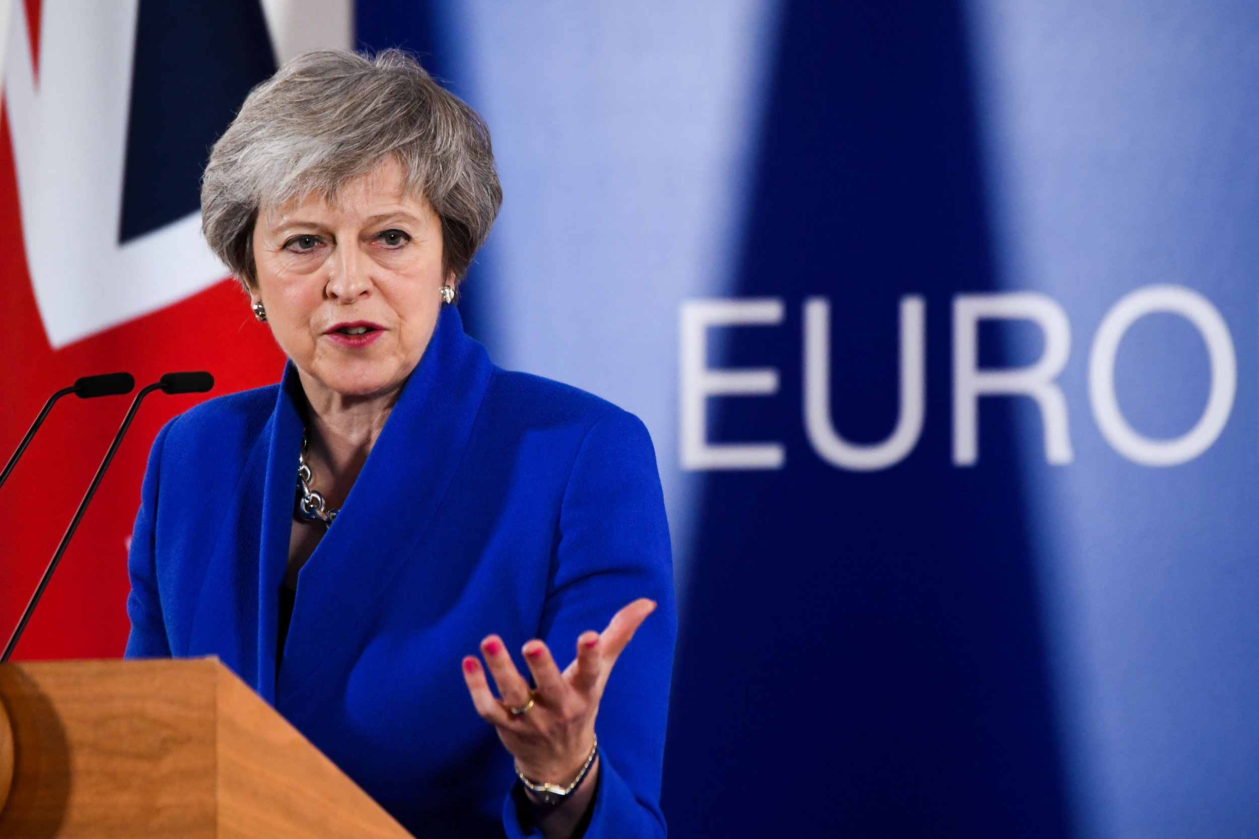 Mandatory Credit: Photo by Isopix/REX/Shutterstock (9991924bo) Theresa May - Round Table at the special meeting of the European Council. The leaders of the 27 remaining EU member countries (EU27) meet 'to endorse the draft Brexit withdrawal agreement and to approve the draft political declaration on future EU-UK relations' in a special meeting of the European Council on Britain leaving the EU under Article 50. Brexit summit, Brussels, Belgium - 25 Nov 2018