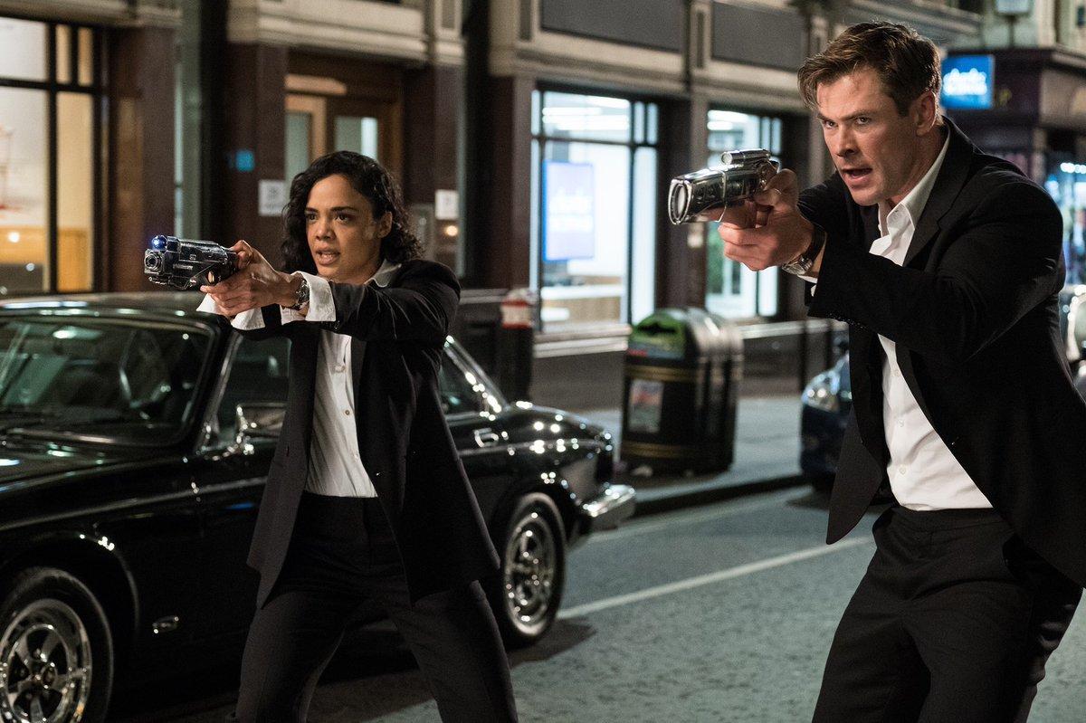 First Men in Black International photo sees Chris Hemsworth and Tessa Thompson taking aim