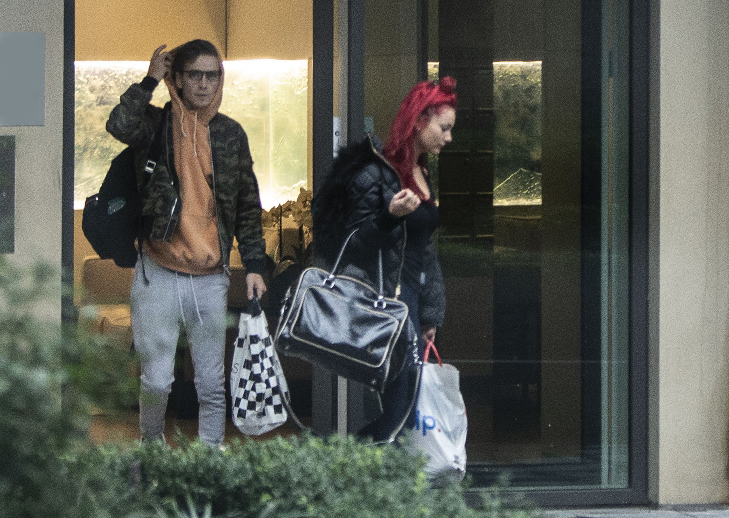 EXCLUSIVE: ONLINE EMBARGO 4pm, 8th Dec *?500 set fee ONLINE / ?500 set fee paper* Strictly Youtube sensation Joe Sugg pictured leaving his London apartment with his ?Strictly Come Dancing? Partner Dianne Buswell after the pair moved in together after getting close on the hit BBC TV Series. Joe was spotted with Dianne while the pair were out visiting a Santander on Tuesday (04-12-2018), then on Wednesday morning leaving Joe's apartment together after spending the night there. They were later seen that evening as they headed back to their apartment before being snapped leaving Joe's apartment together on Thursday morning. Pictured: Joe Sugg,Dianne Buswell Ref: SPL5047535 061218 EXCLUSIVE Picture by: SplashNews.com ONLINE EMBARGO 4pm, 8th Dec *?500 set fee ONLINE / ?500 set fee paper* Splash News and Pictures Los Angeles: 310-821-2666 New York: 212-619-2666 London: 0207 644 7656 Milan: 02 4399 8577 photodesk@splashnews.com World Rights