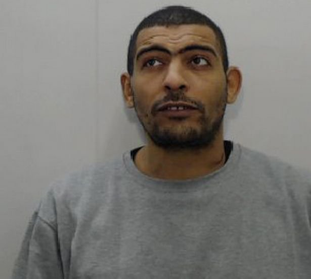 Aron Jae Condor has been sentenced to 12 years and eight months in prison.A thug attacked his partner so violently with a machete that he snapped it from its handle after going on a 72-hour drink and drugs binge, a court heard. Aron Jae Condor's terrified victim was asleep when he began 'raining blows' on her head and back with the blade in the early hours of the morning. The muscle from her right shoulder was left exposed after he sliced through it during the frenzied attack. Manchester Crown Court heard how Condor, of Bank Street, Clayton, met his victim in the summer of 2016 and the pair had an 18-month relationship. Things started off well, but the defendant started suffering from 'increasing bouts of depression fuelled by alcohol and drugs', the court heard.