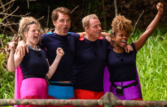 STRICT EMBARGO - NOT TO BE USED BEFORE 22:10 GMT, 08 DEC 2018 - EDITORIAL USE ONLY Mandatory Credit: Photo by James Gourley/ITV/REX (10019041aj) Cyclone - Emily Atack, John Barrowman, Harry Redknapp and Fleur East 'I'm a Celebrity... Get Me Out of Here!' TV Show, Series 18, Australia - 08 Dec 2018