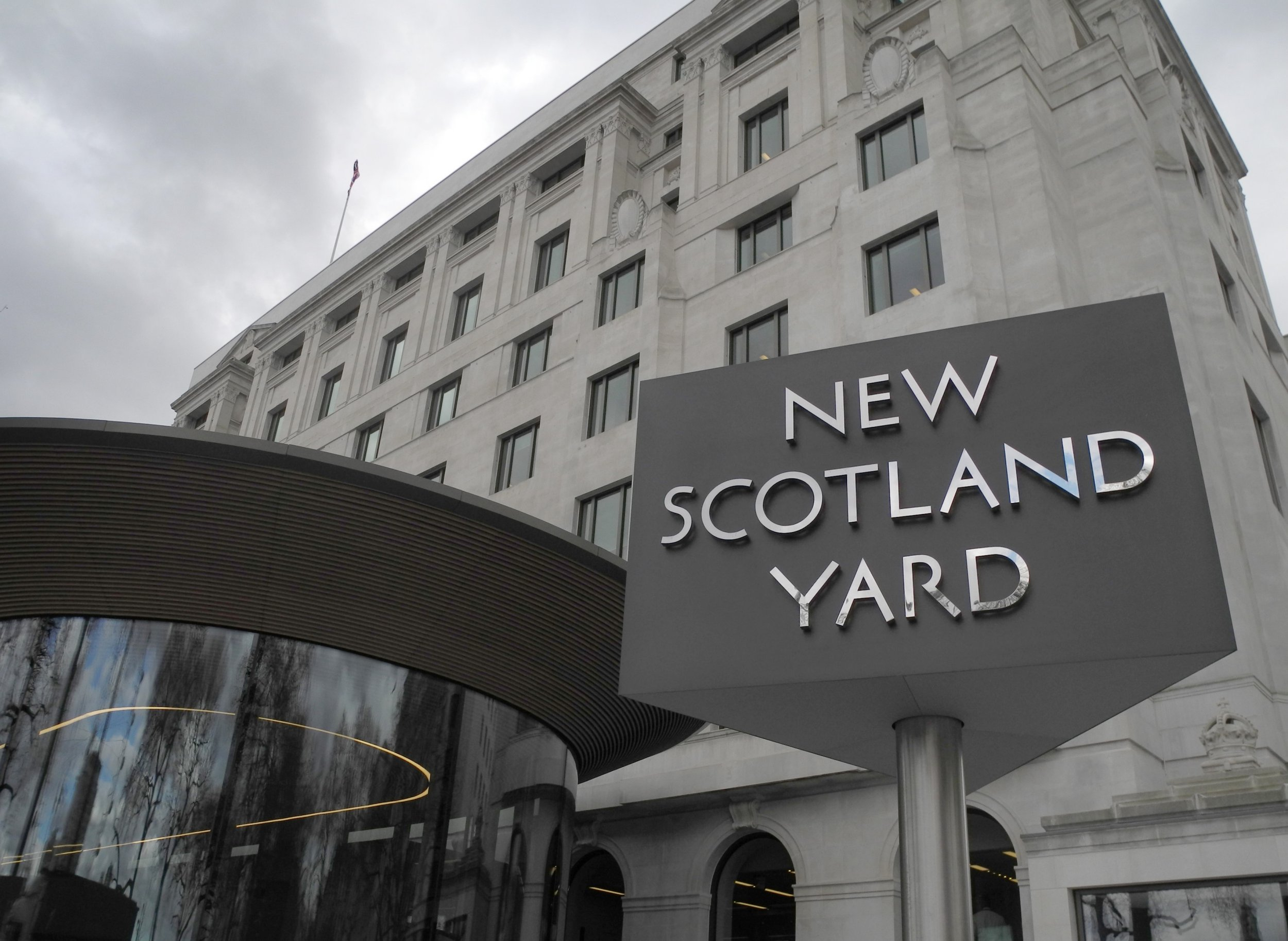 The new building of the Metropolitan Police Service (MPS) of London, also known as Scotland Yard, in London,?England, 21 March 2017. The building was scheduled to be opened by Britain's Queen Elizabeth II on 22 March 2017. Photo: Leonard Kehnscherper/dpa