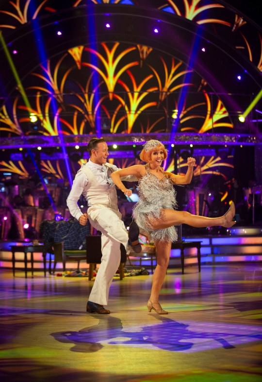 For use in UK, Ireland or Benelux countries only Undated BBC handout photo of Kevin Clifton and Stacey Dooley during Saturday's Strictly Come Dancing live show on BBC One. PRESS ASSOCIATION Photo. Issue date: Saturday December 8, 2018. See PA story SHOWBIZ Strictly. Photo credit should read: Guy Levy/BBC/PA Wire NOTE TO EDITORS: Not for use more than 21 days after issue. You may use this picture without charge only for the purpose of publicising or reporting on current BBC programming, personnel or other BBC output or activity within 21 days of issue. Any use after that time MUST be cleared through BBC Picture Publicity. Please credit the image to the BBC and any named photographer or independent programme maker, as described in the caption.